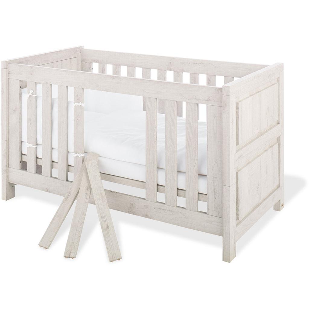 Pinolino® Babyzimmer-Komplettset »Line«, (Set, 3 St.), breit groß; mit Kinderbett, Schrank und Wickelkommode