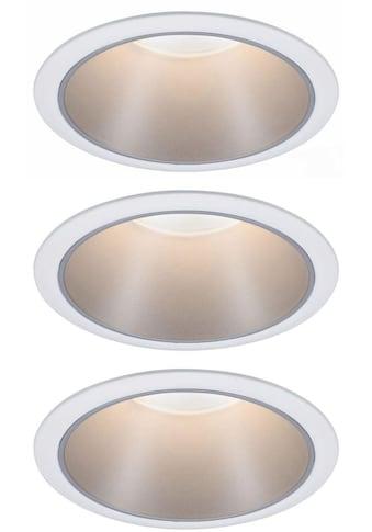 Paulmann LED Einbauleuchte »3er Set Cole 3x6,5W Weiß/Silber matt 3-Stufen-dimmbar... kaufen