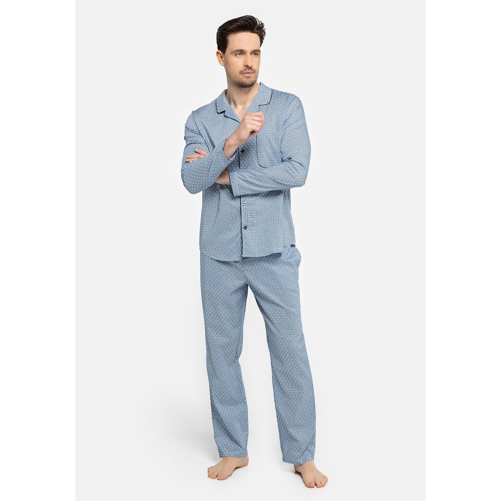 seidensticker Pyjama, aus gewebter Qualität