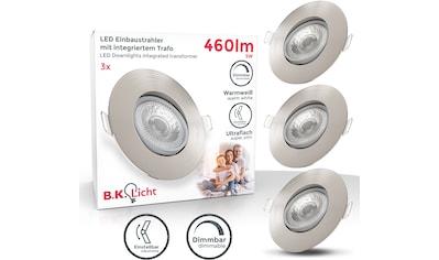 B.K.Licht LED Einbauleuchte, LED-Board, 3 St., Warmweiß, LED Einbauspots dimmbar Deckenlampe schwenkbar 5W 460lm Spot Strahler 3er SET kaufen