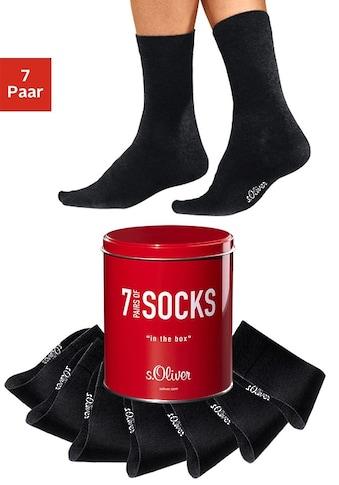s.Oliver Bodywear Businesssocken (Dose, 7 Paar) kaufen