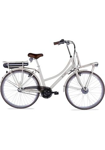 LLobe E-Bike »Rosendaal Lady 15,6 Ah«, 3 Gang, Frontmotor 250 W, Gepäckträger vorne kaufen