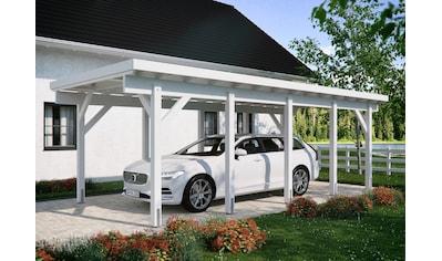 Kiehn-Holz Einzelcarport »KH 320 / KH 321«, Holz, 275 cm, weiß, Stahl-Dach, versch.... kaufen