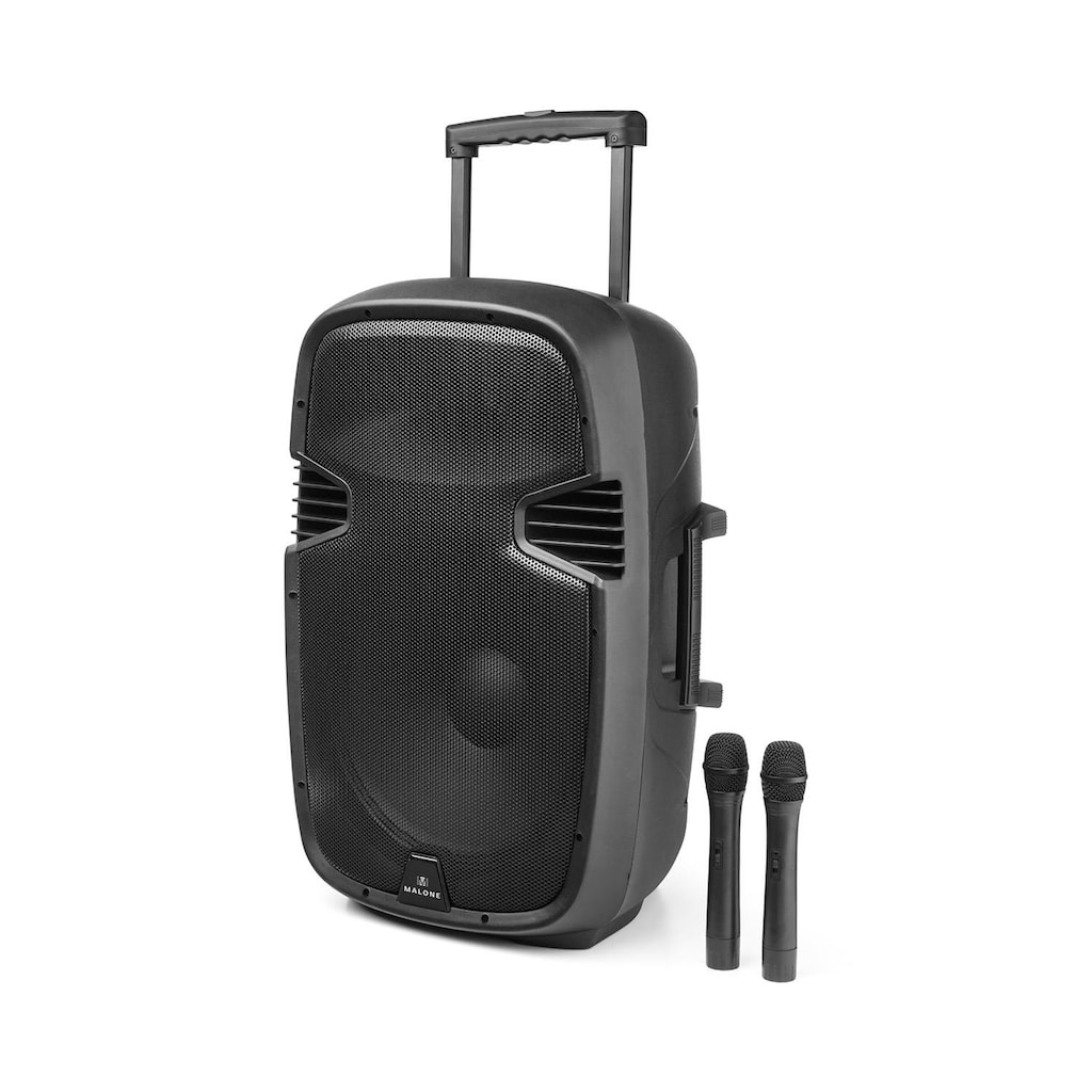 Malone Mobiler Aktiver PA Lautsprecher Trolley 900W Bluetooth USB