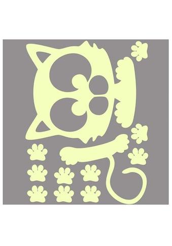 Wall - Art Wandtattoo »Lichtschalter Katze Leuchtsticker« (1 Stück) kaufen