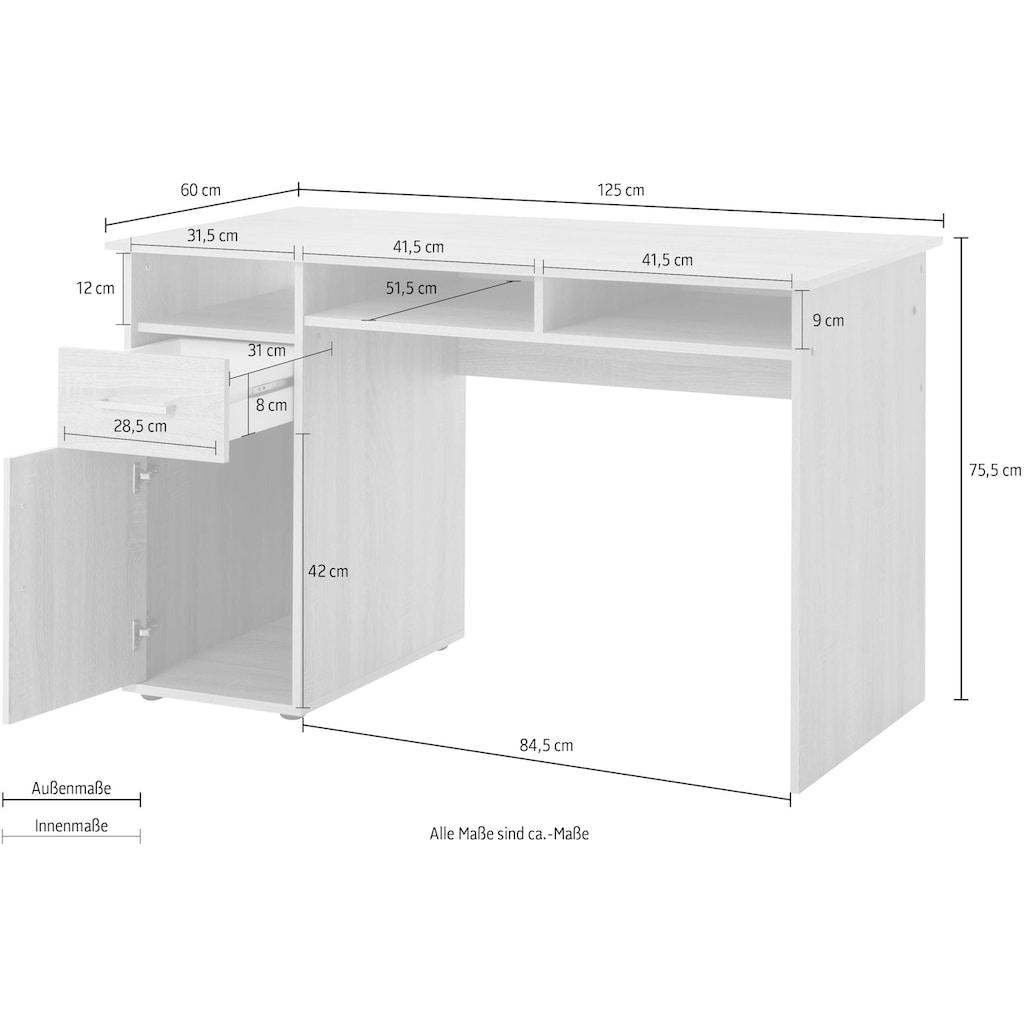 Wilmes Schreibtisch »MULTI«, mit 1 Tür, 1 Schublade, 3 Fächer