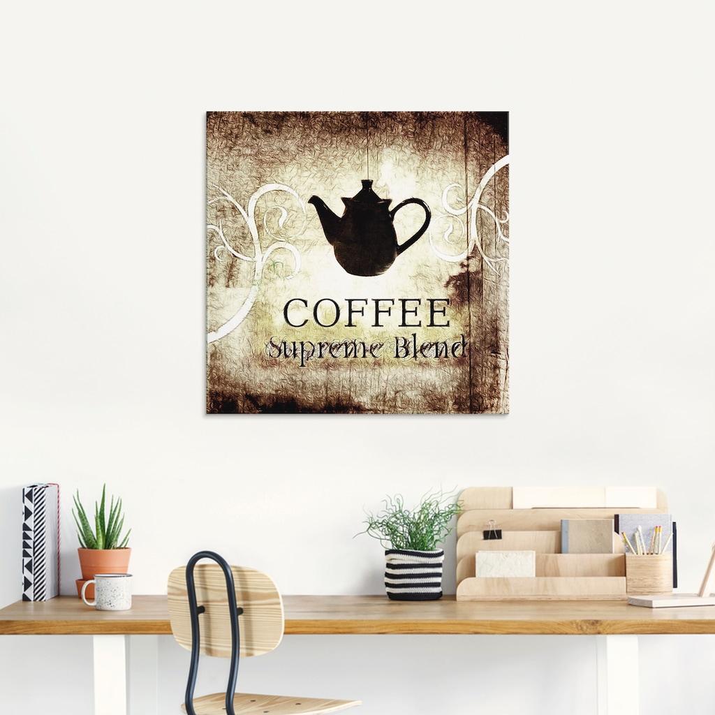 Artland Glasbild »Kaffee«, Getränke, (1 St.)