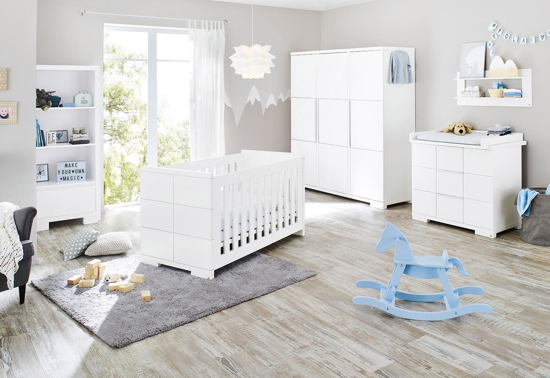 Pinolino Babyzimmer-Set (3-tlg.), Kinderzimmer, »Polar breit groß« | Kinderzimmer > Babymöbel > Komplett-Babyzimmer | Weiß | Aluminium - Mdf | PINOLINO