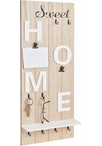 Home affaire Garderobenpaneel »Sweet Home« kaufen