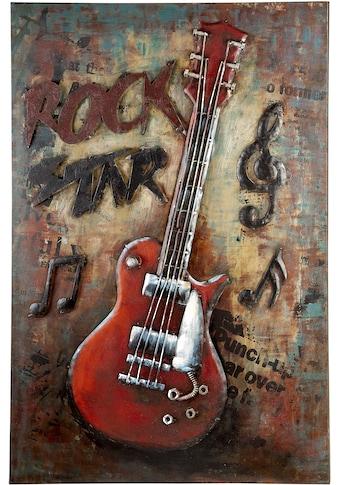 GILDE GALLERY Metallbild »Bild Rockstar«, Gitarre, (1 St.), handgefertigt, aus Metall,... kaufen