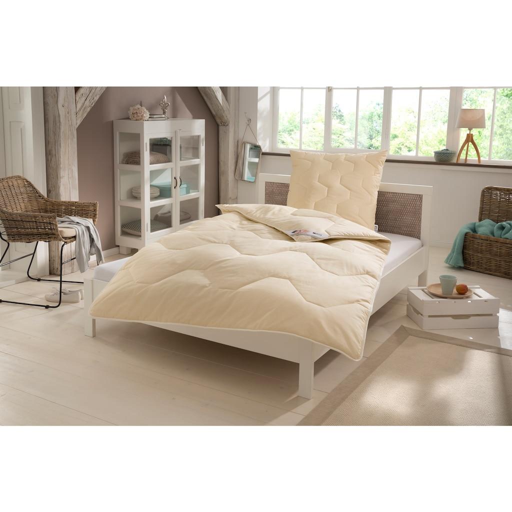 my home Naturfaserbettdecke + Kopfkissen »Baumwolle 60 °C«, (Spar-Set, (4-Tlg.), natürlich gut schlafen in reiner Baumwollqualität