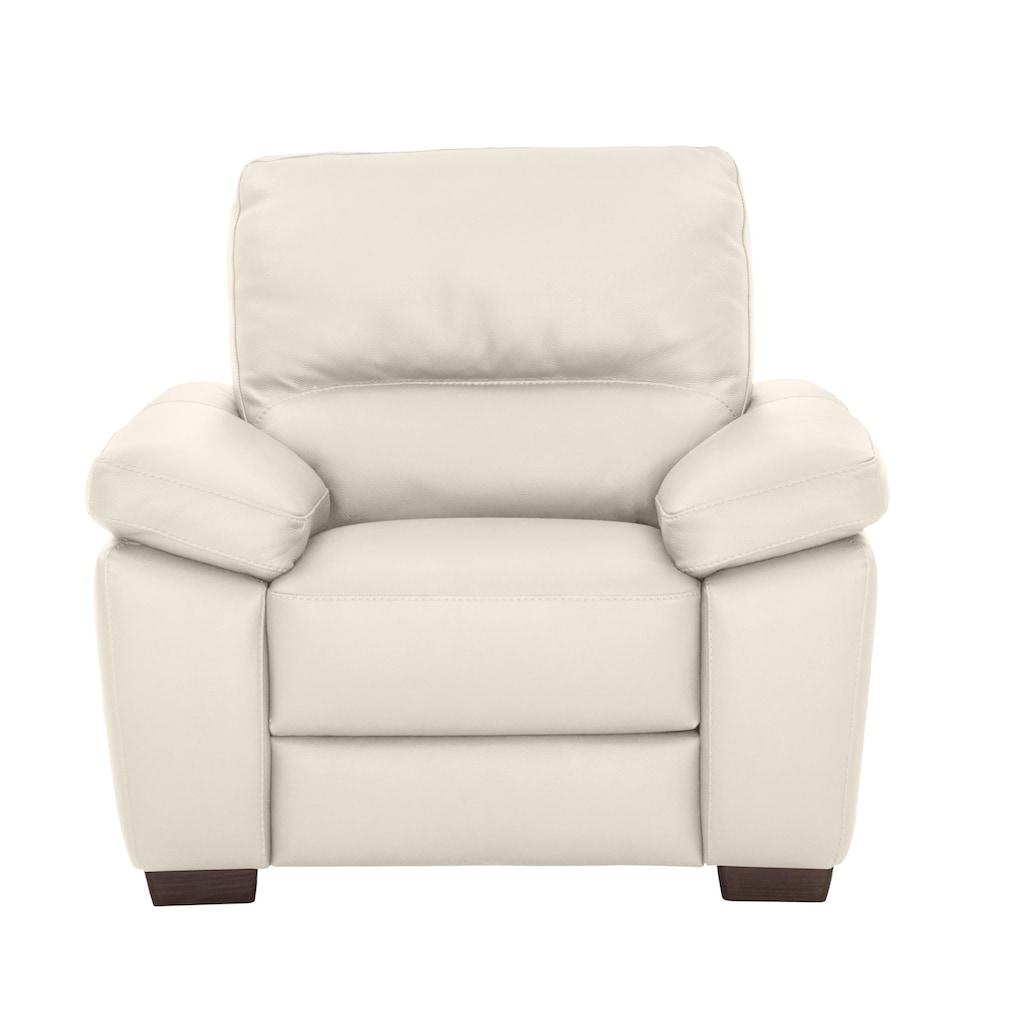 CALIA ITALIA Sessel »Gaia«, in zwei Lederqualitäten