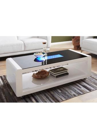Homexperts Couchtisch, mit 3D-LED-Beleuchtung, auf Rollen kaufen