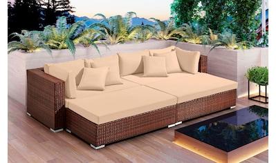 BAIDANI Loungeset »Paradise«, 16 - tlg., Sofa, 2 Hocker, inkl. Auflagen kaufen
