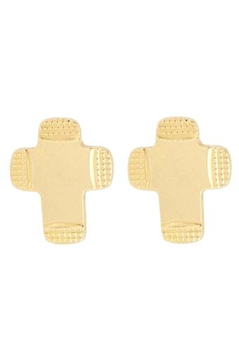 Firetti Paar Ohrstecker »Kreuze, Ränder spiegeldiamantiert, Innenbogen geriffelt, Mitte glänzend« kaufen