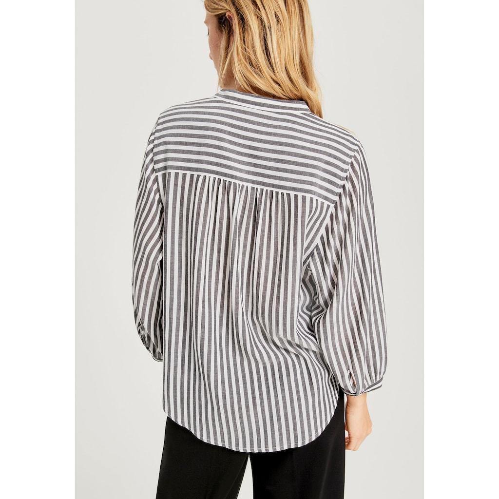 OPUS Klassische Bluse »Fiefer«, im frischen Streifen Design