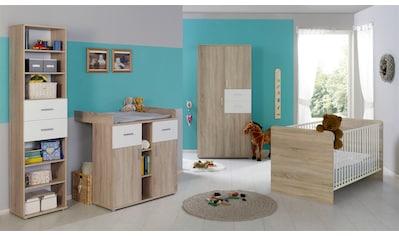 BMG Babyzimmer-Komplettset »Maxim«, (Set, 4 tlg.), Bett + Wickelkommode + 3-trg. Schrank + Standregal kaufen