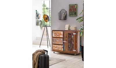 SIT Kommode »Fridge«, Breite 100 cm, mit Kühlschrankgriff, Shabby Chic, Vintage kaufen