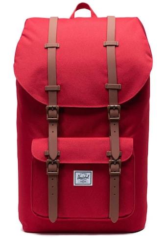Herschel Laptoprucksack »Little America, Red/Saddle Brown« kaufen