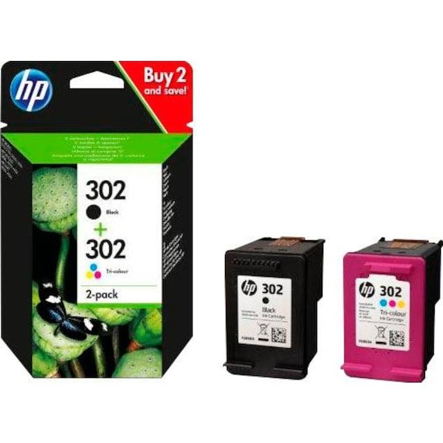 HP »hp 302, Original Kombi-Pack Schwarz, Cyan, Magenta, Gelb, X4D37AE« Tintenpatrone