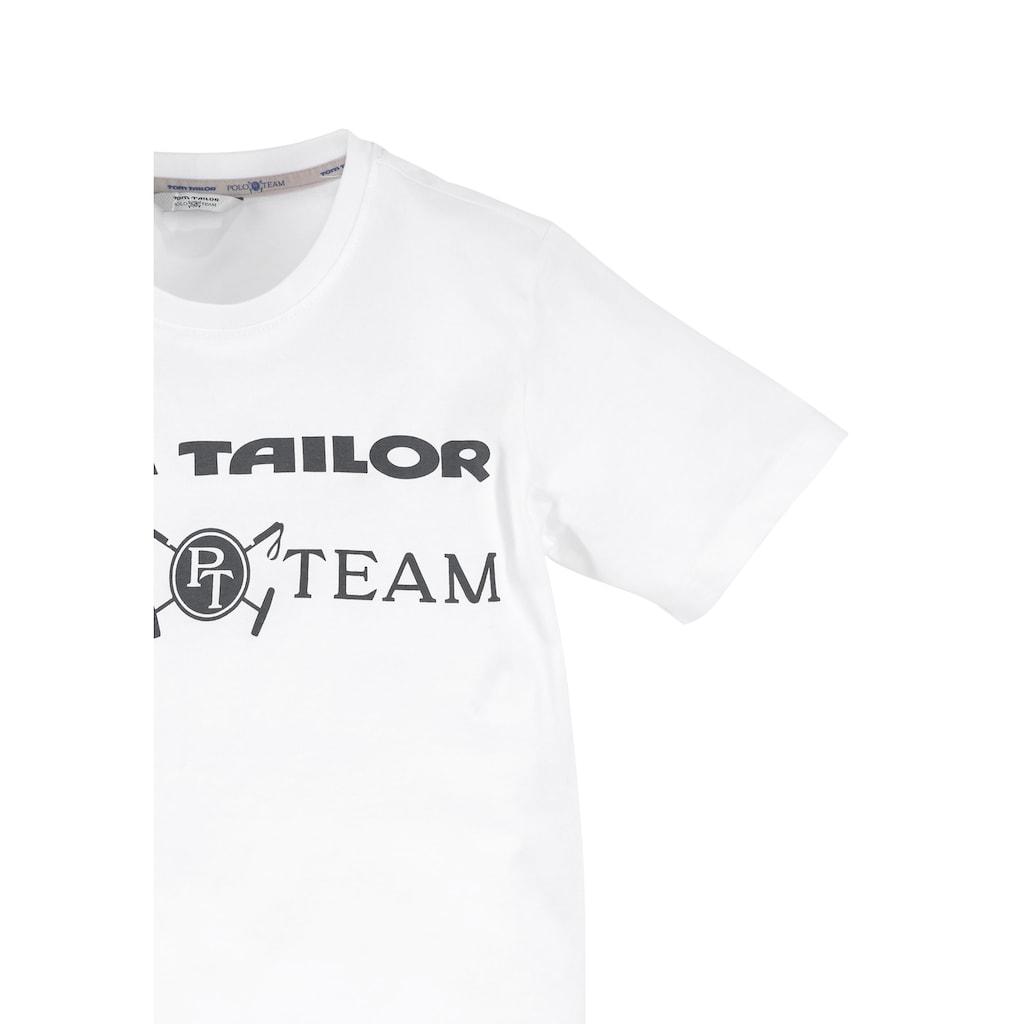 TOM TAILOR Polo Team T-Shirt, mit Logodruck