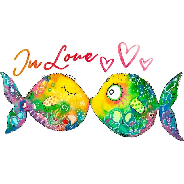 Wandtattoo »Verliebte Fische«