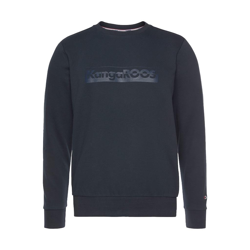 KangaROOS Sweatshirt, mit großem Logofrontprint