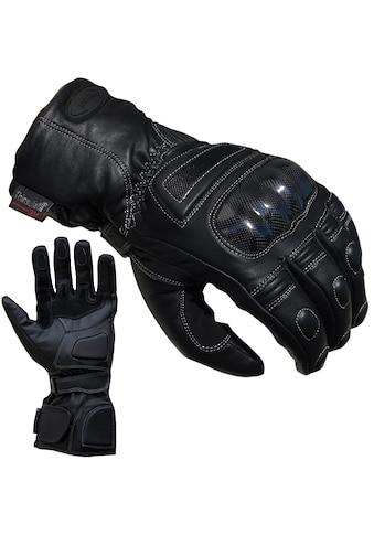 PROANTI Motorradhandschuhe, speziell für Regenwetter und den Winter geeignet, aus Leder kaufen