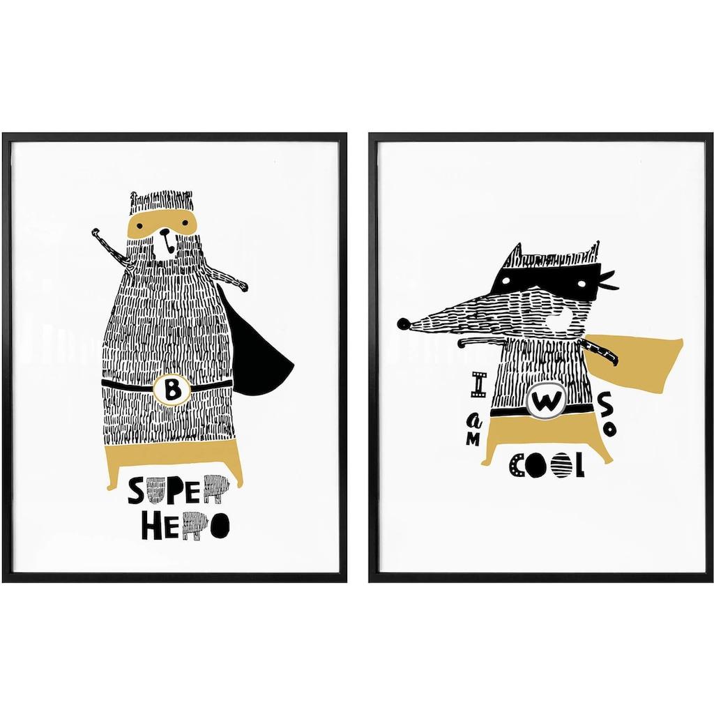 Wall-Art Poster »Superhelden«, (Set)