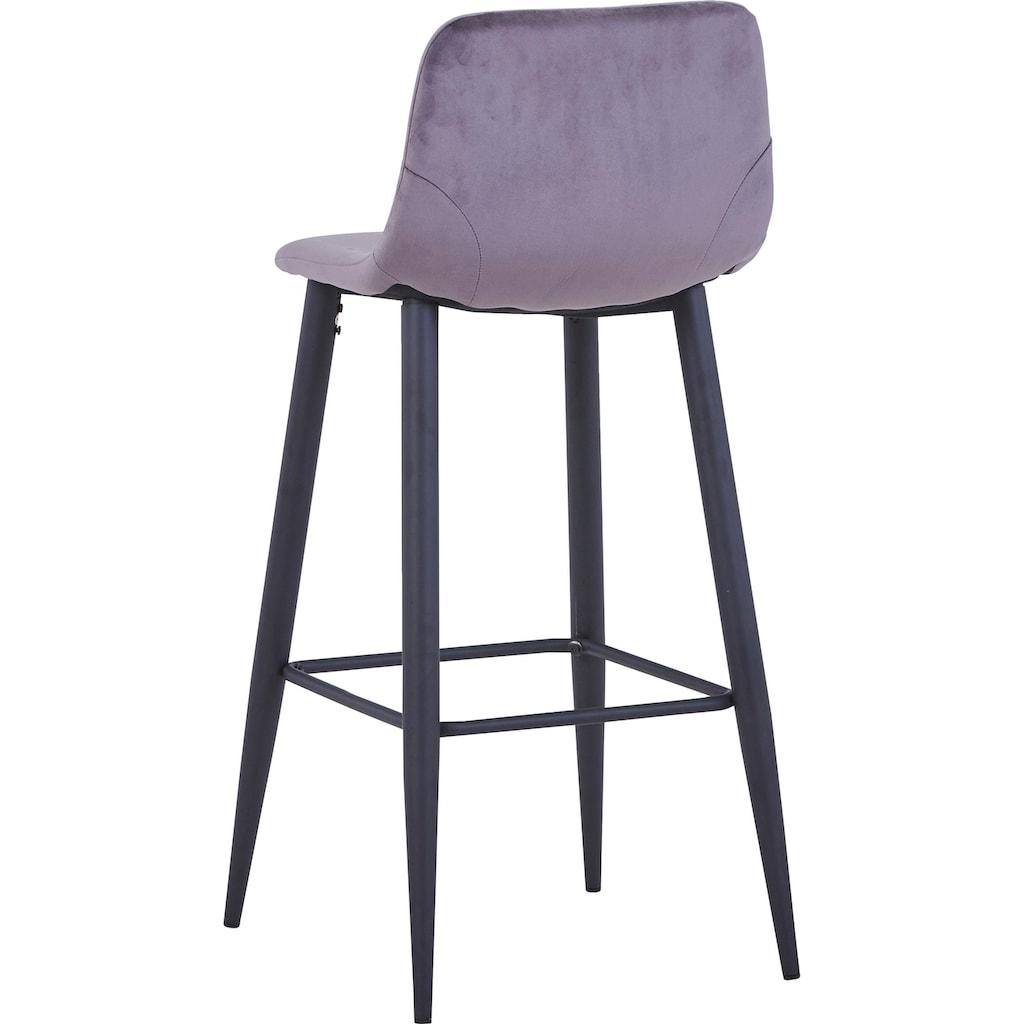 SIT Barhocker »Sit&Chairs«, mit weichem Samtbezug