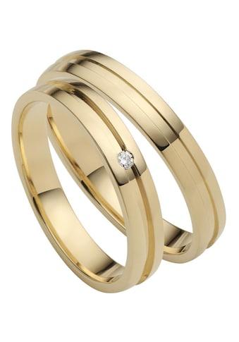 Firetti Trauring »3,5 mm, diamantgeschnittener Vertiefung, Gelbgold« kaufen