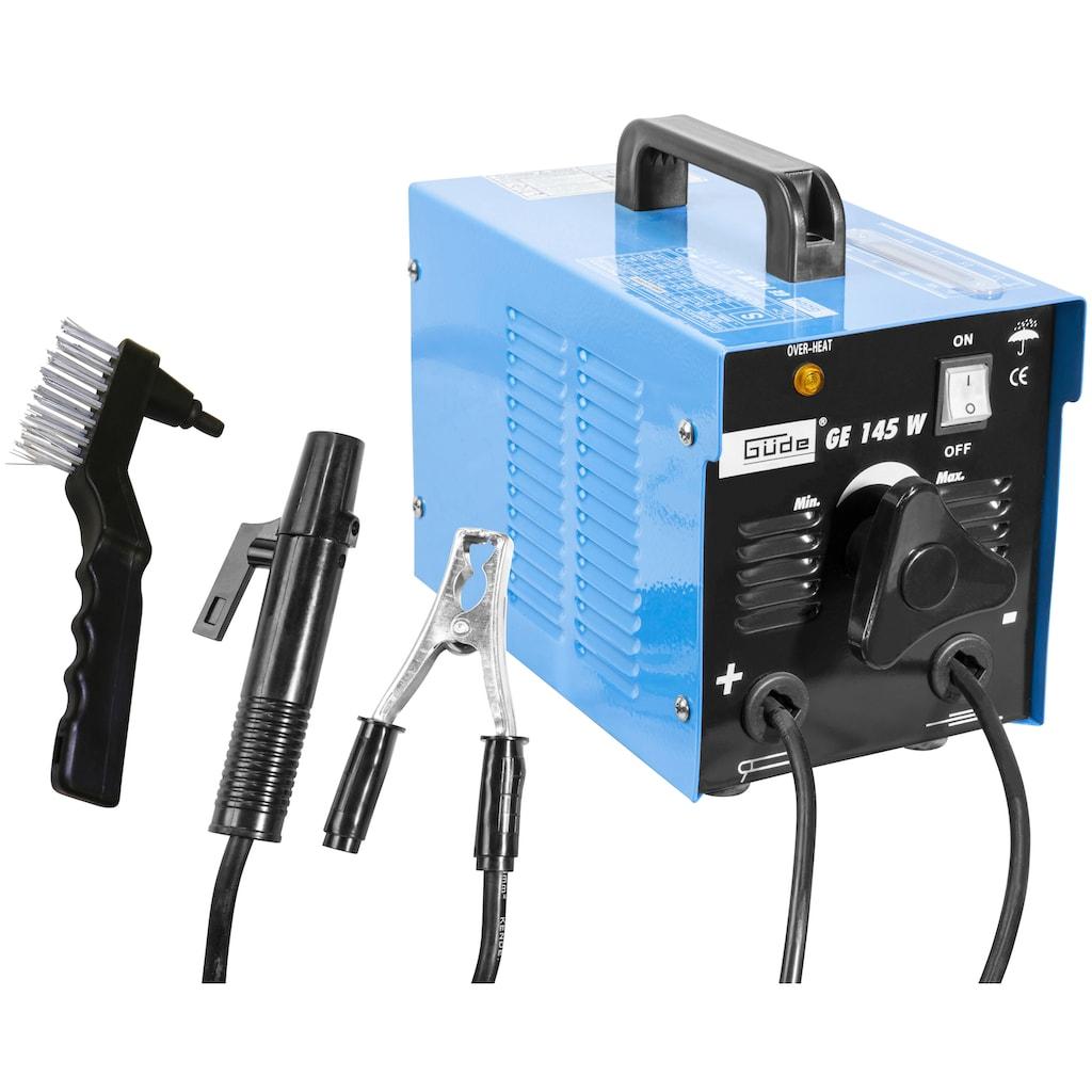 Güde Elektroschweißgerät »GE 145 W«, Absicherung, träge 16 A, max. Netzleistung 5 kVA