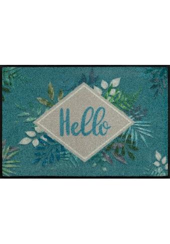 wash+dry by Kleen-Tex Fußmatte »Floral Hello«, rechteckig, 7 mm Höhe,... kaufen