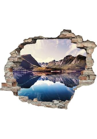 queence Wandtattoo »Spiegelnder Berg im See« (1 Stück) kaufen