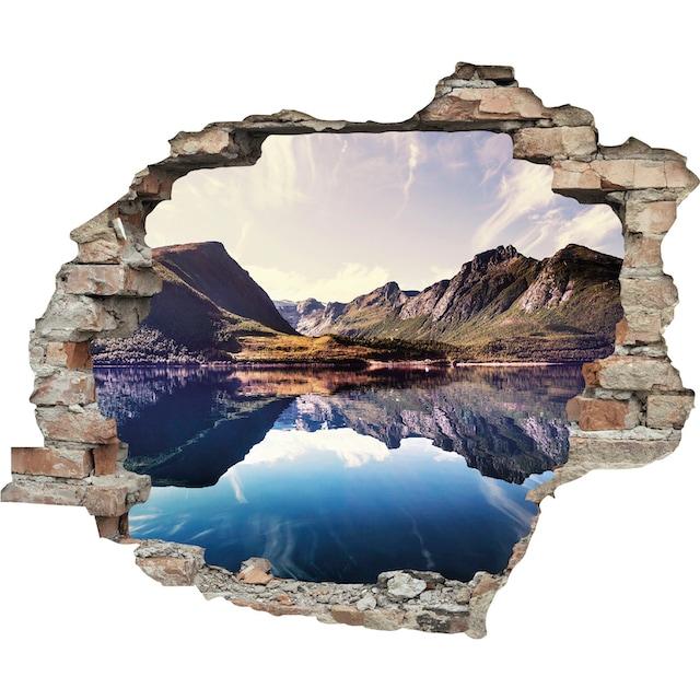 queence Wandtattoo »Spiegelnder Berg im See« (1 Stück)