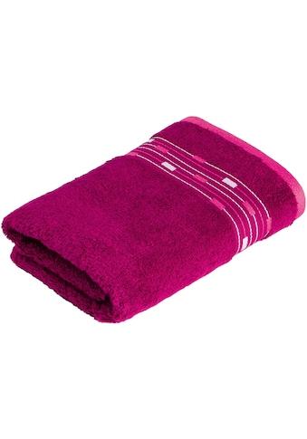 Möve for frottana Handtuch »Magic Uni«, (1 St.), mit Bordüre aus kleinen Rechtecken kaufen
