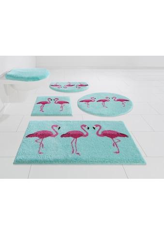 GRUND exklusiv Badematte »Flamingos«, Höhe 20 mm, rutschhemmend beschichtet kaufen