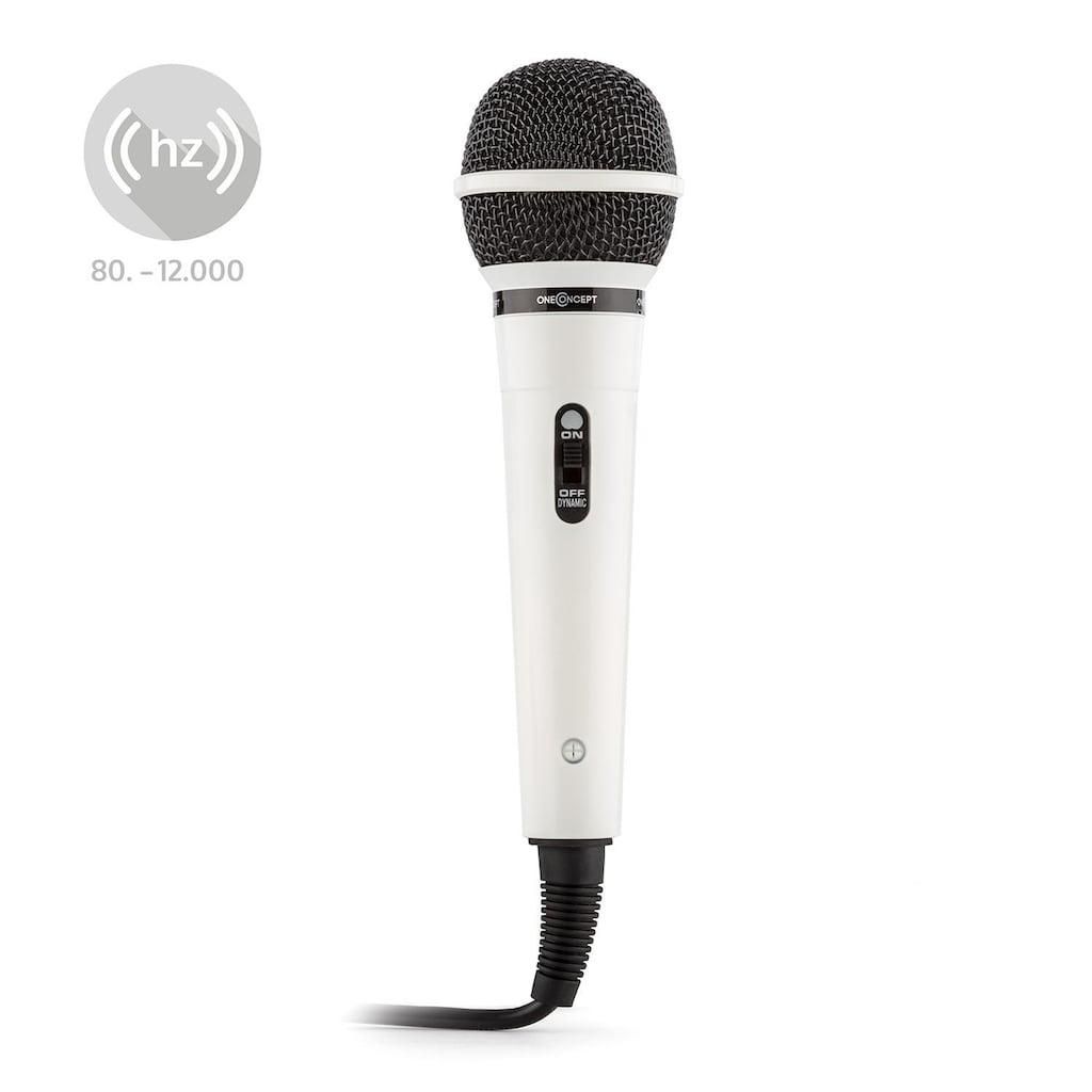 ONECONCEPT Dynamisches Karaoke Mikrofon Gesangsmikrofon »202WH«