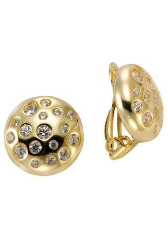 Firetti Paar Ohrclips »rund, gelbgoldfarben, Ø ca. 14 mm« kaufen