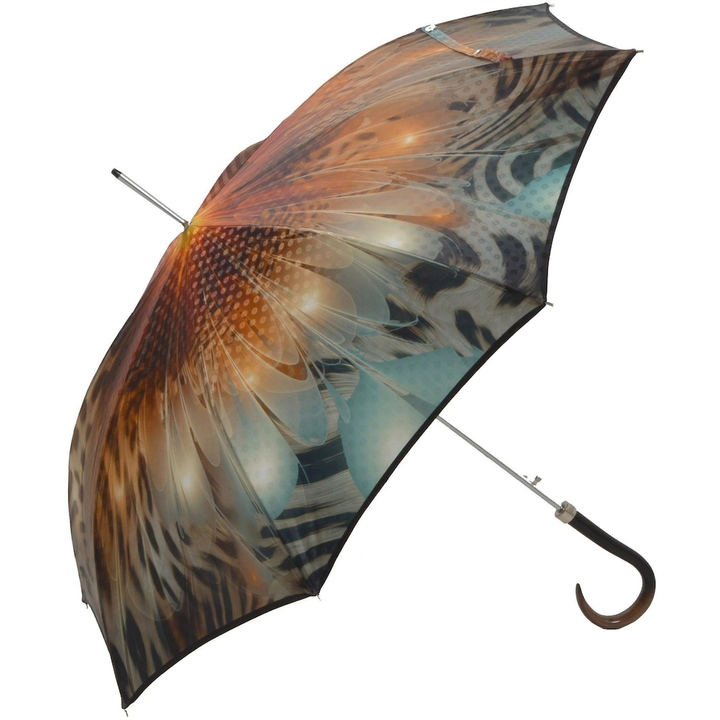 doppler MANUFAKTUR Stockregenschirm »Boheme, amber«, handgemachter Manufaktur-Stockschirm