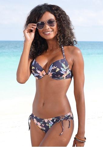 LASCANA Push-Up-Bikini-Top »Malia«, mit tropischem Print kaufen