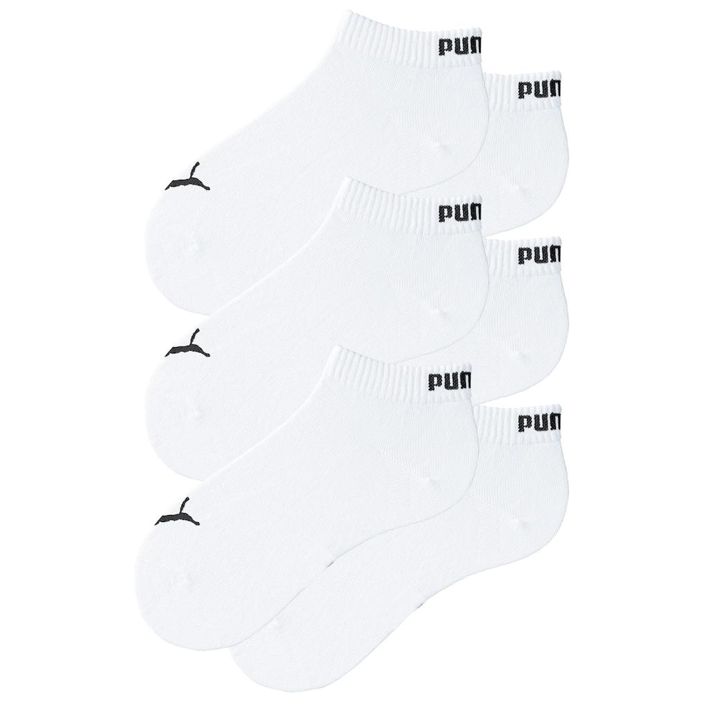 PUMA Kurzsocken, (6 Paar), mit Rippbündchen