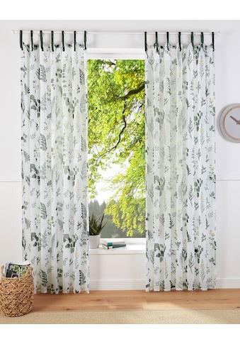 Vorhang, »HERBS«, Home affaire, Bindebänder 1 Stück kaufen