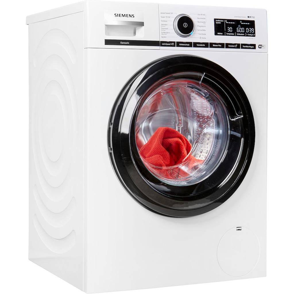 SIEMENS Waschmaschine »WM16XMJ00P«, iQ700, WM16XMJ00P, 9 kg, 1600 U/min