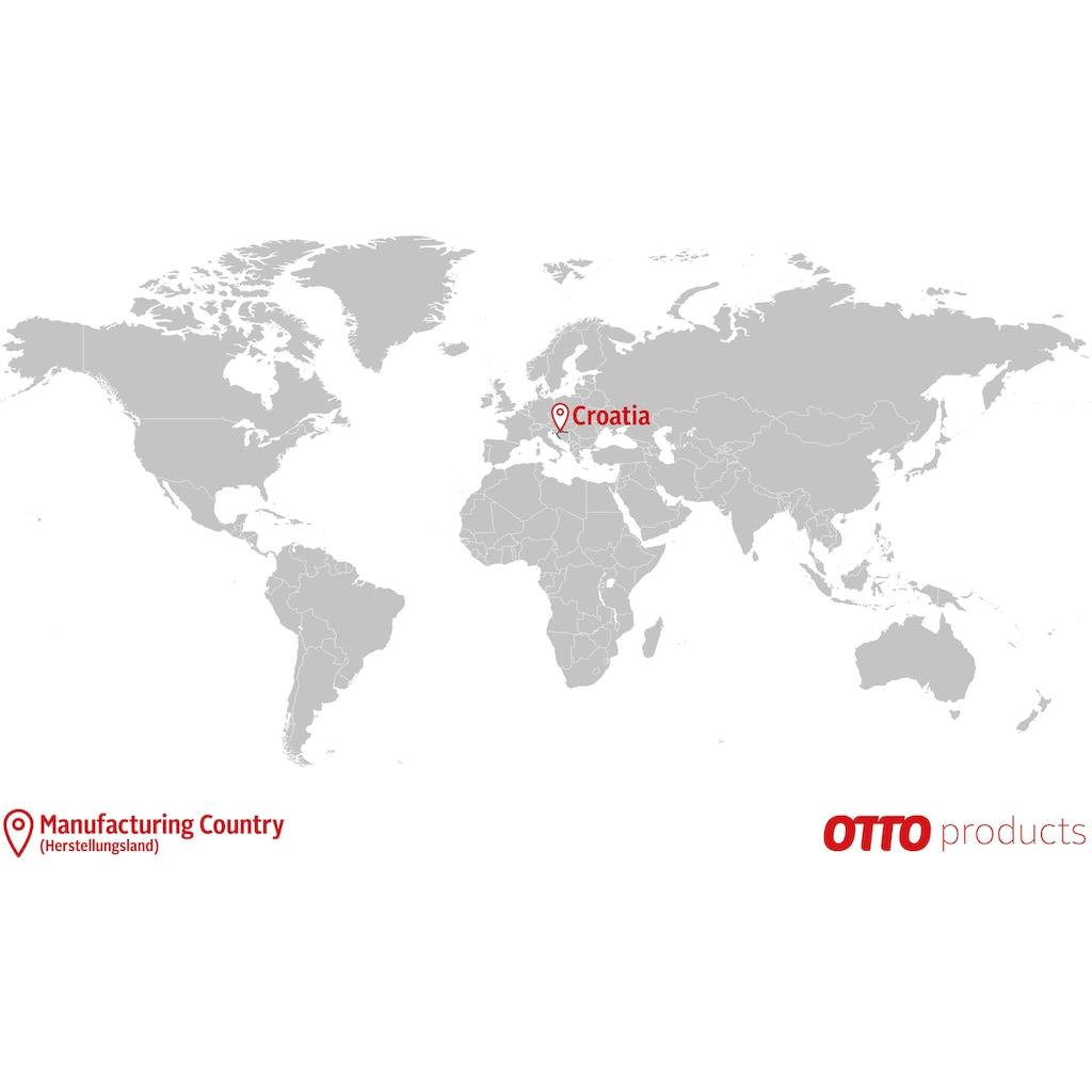 OTTO products Esstisch »Lennard«, aus massiver geölter Wildeiche, mit veganem und zertifizierten Bio-Öl behandelt, rechteckige Tischplatte, mit sternförmigem Metallgestell