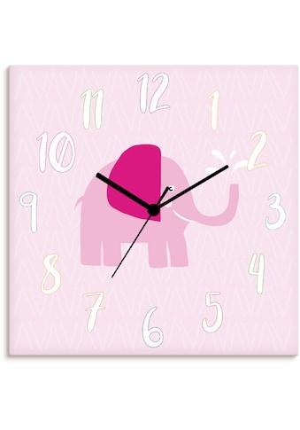 Artland Wanduhr »Elefant auf rosa« kaufen