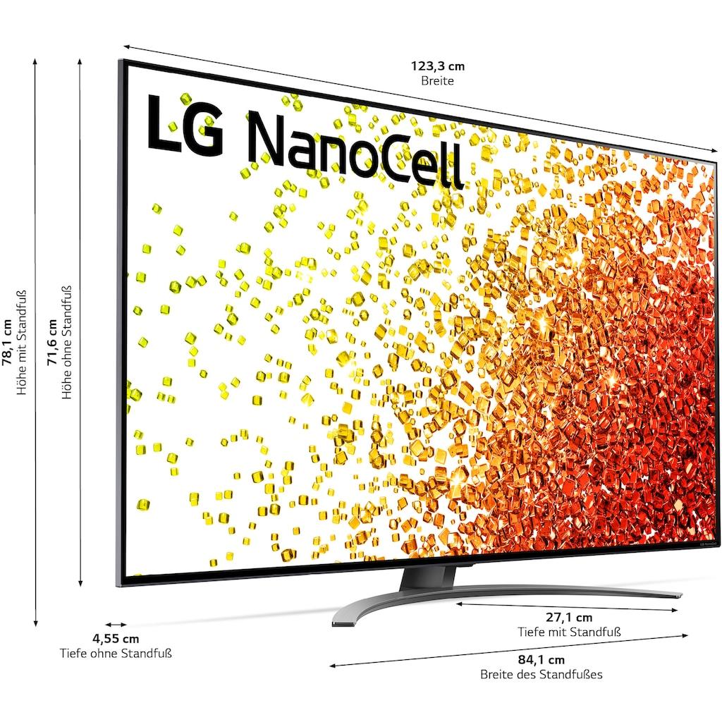 "LG LCD-LED Fernseher »55NANO919PA«, 139 cm/55 "", 4K Ultra HD, Smart-TV, (bis zu 120Hz)-Full Array Dimming-α7 Gen4 4K AI-Prozessor-Sprachassistenten-HDMI 2.1"