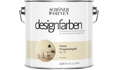 SCHÖNER WOHNEN-Kollektion Wand- und Deckenfarbe »Designfarben«, feines Pergamentgelb... kaufen