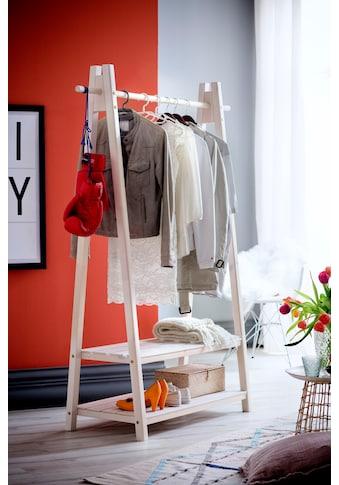 Home affaire Garderobenständer »Ward«, aus massivem weiß lackiertem Fichtenholz,... kaufen