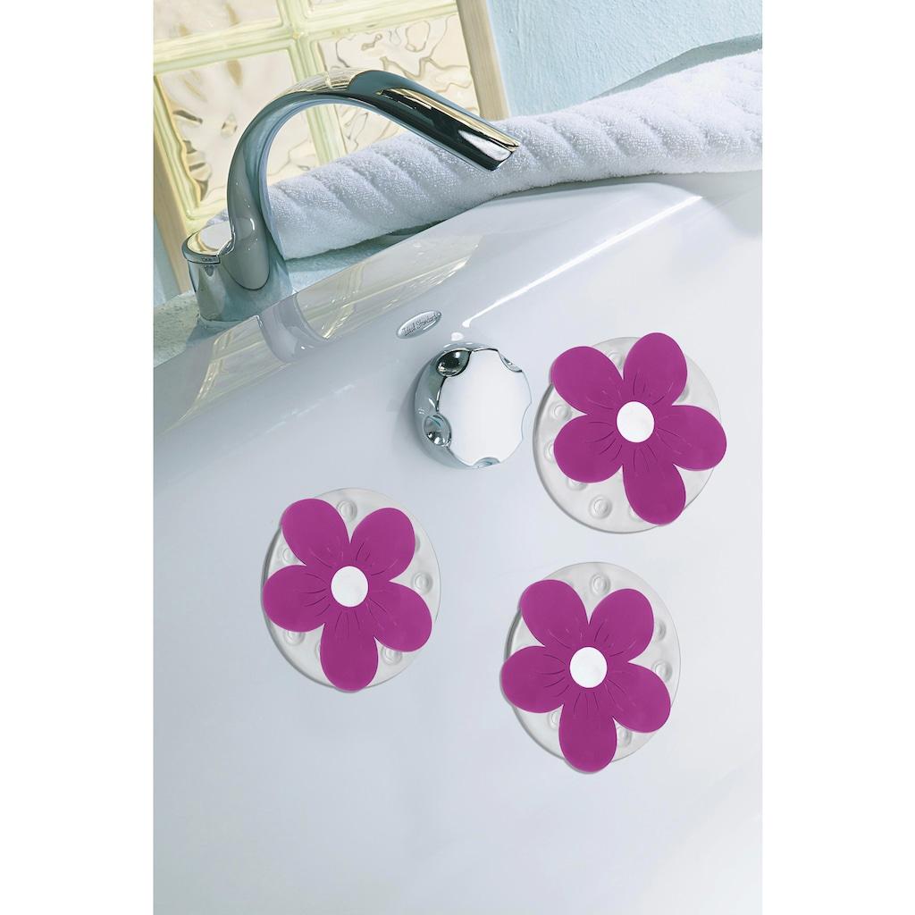 KLEINE WOLKE Duscheinlage »Viola Minis«, Set 4-teilig, BxH: 11 x 11 cm